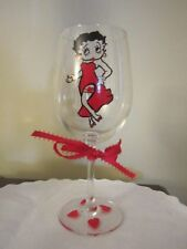 Wine Glass BETTY BOOP w/ Red Evening Dress Wine Glass 12 oz.