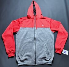 Russell Athletic Full zip Hoodie Large Tall Gray and Red