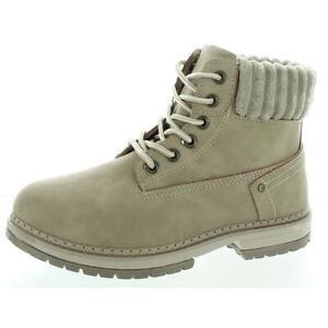 Dirty Laundry Womens Alpine Taupe Hiking Boots Shoes 6 Medium (B,M) BHFO 3494