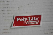 COLEMAN POLY LITE COOLER DECAL  *LIQUIDATION*