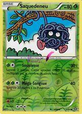 "Carte Pokemon "" SAQUEDENEU "" Offensive Vapeur XY PV 80 1/114 HOLO REVERSE VF"