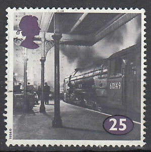 Großbritannien England gestempelt Eisenbahn Bahnhof Architektur Verkehr 1994 / 2