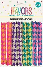 8 Chinese Bamboo Finger Traps Party Favour Birthday Treat Loot Bag Toys Games