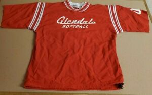 Vintage Glendale High School Official Tonix Lady Falcons Red Softball Over Shirt
