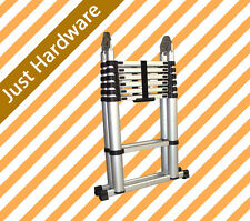 Multi Purpose 3.8 Meter Aluminium Telescopic Extension Ladder Finger protection