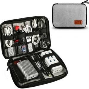 Cable Earphone Organiser Bag Electronics Accessories Case Travel Gadget Pouch UK