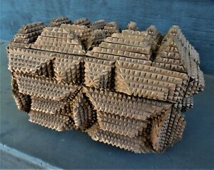 Great Early TRAMP ART BOX has 62 5-layer pyramids NO LOSSES! [Boston Primitive]