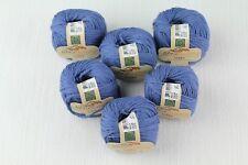 Fibra Natura Links 100% Organic Cotton Sally Blue Yarn -- 6 Skeins + Free Gift!