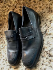 Johnston & Murphy  Men's Black Leather Loafers 9.5D Slip Resistant