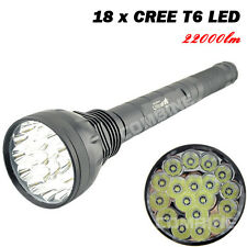 Tactical LED Flashlight Ultrafire 22000LM 18x CREE T6 5-Mode 26650/32650 Torch