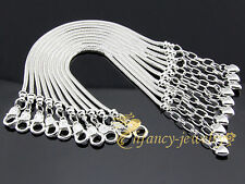 10pcs Silver/P Lobster Clasp Heart Snake Chain Bracelet Fit European Charms & PM