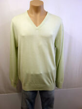LORDS & CASHMERE Designer Pullover Gr.XL 54 Seide Wolle Kaschmir Hellgrün Grün