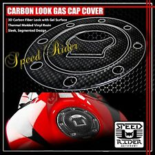 87-96 GSXR-600/750/1000 CARBON FIBER LOOK GAS CAP FUEL LID COVER PROTECTION PAD