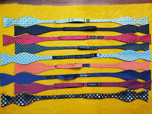 9 pc ~ PURIST BOW TIES BOWTIES SILK ~ALL POLKA MICRO DOT ~ BROOKS BROTHERS +MORE