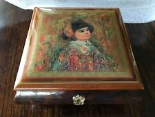 Vintage Reuge 3 Song Music Box Made in Italy Excellent Condition
