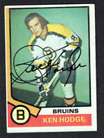 Ken Hodge #230 signed autograph auto 1974-75 Topps Hockey Trading Card