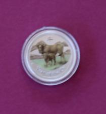 2009 1/2oz .999 Silver Lunar Ox Coloured Bullion Coin Perth Mint