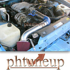 BLUE 1990-1992 PONTIAC FIREBIRD TPI 3.1 3.1L AIR INTAKE KIT + RED FILTER