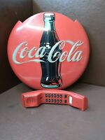 VINTAGE RED COCA COLA CORDED STAND UP or WALL MOUNT TELEPHONE.