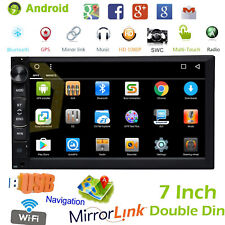 Double 2Din 7'' Inch Android Car Stereo MP5 Player GPS Navi AM FM Radio WiFi BT