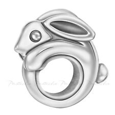 NOW 35% OFF! Lovelinks, Bead Sterling Silver Rabbit Oxidised Charm Jewelry TT656
