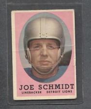 1958 Topps Football #3 Joe Schmidt (Lions)  G-Vg  (Flat Rate Ship)
