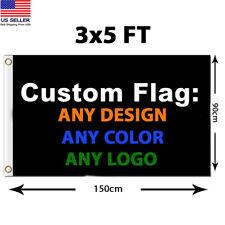Custom Personalize Flag Advertising Banner Design Polyester 3x5ft Garden Flag