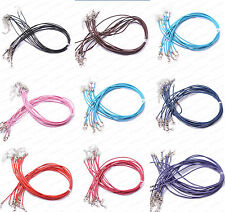 Wholesale Lots 10Pcs Leather Necklace Cord With Chain 450Mm Fashion Jewelry
