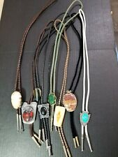 Bolo Ties Southwestern Style Vintage Mixed Lot Of 8