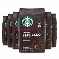6 PACK Starbucks Espresso Whole Bean Coffee (12 oz. ea) Best Before July 2020