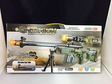 KID'S TOY SNIPER RIFLE CAMOUFLAGE WITH LIGHTS AND SOUNDS  AND VIBRATION uk