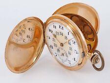 Herren Savonette Taschenuhr 14k (585) Gold 53 mm Vintage