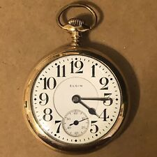 21j, Gold Filled, 121g, Parts/Repair Elgin Father Time Pocket Watch, 18s,