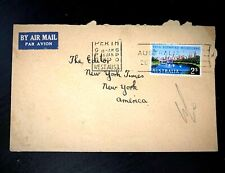Australia XVI th. Olympiad Melbourne 1957  Air mail to The Editor New York Times