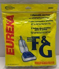 3 Genuine Eureka Vacuum Cleaner Bags 52320A Style F & G