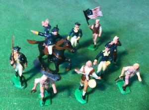 MARX 30mm miniature Revolutionary War soldiers vintage 1960s
