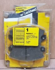 Plaquettes de freins Avant Renault R4 (83) R5 R6 R12 R15 R17 R20 (80) Lockheed