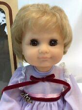 """Vintage 15"""" GOTZ Spiellfreundin Gelenbaby Vinyl Blonde Jointed Baby Doll w/ Box"""