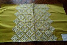 MANUEL CANOVAS ~ Paris Fabric Remnant - KAYA 01 - Embroidered SATIN - 27x16 $260