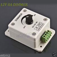 12V 8A PIR Sensor LED Strip Light Switch Dimmer Brightness Controller Brand New