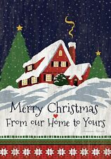 Our Home To Yours - Large Garden Flag - Brand New 28x40 Christmas 0062