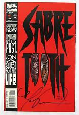 Sabretooth #1 Die Cut 1993 Signed Mark Texeira Dynamic Forces COA 6806/10000 LMT