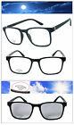 Square Frame Transition Photochromic Lens Reading Glasses Sunglasses UV400