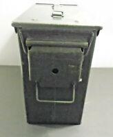 "VINTAGE SCF MILITARY ARMY GREEN METAL AMMO BOX 10"" X 11"""