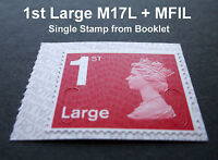 2017 1st LARGE M17L + MFIL MACHIN SINGLE STAMP from Booklet