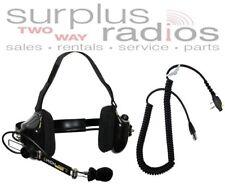 NEW HNH DUAL MUFF RACING HEADSET FOR ICOM RADIO F11 F21 F4011 F24 F14 F3011 F14S