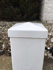 5x5 PVC Fence Post Flat Vinyl White 5 x 5 (qty 20) USA Made