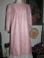 Size 14WP Vintage Floral Pink LACE Dress by New Looks Pretty Party Event