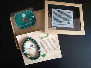 Simmons Jewelry Co. Malachite & Rough Diamond Green Bracelet