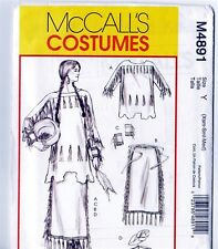 Retired McCalls M4891 Native American Costume Skirt and Top Pattern Xsm Sml Med